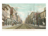 Main Street, Zanesville, Ohio Prints
