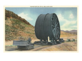 Transporting Pipe, Boulder Dam, Nevada Art