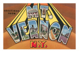 Greetings from Mt. Vernon, New York Prints