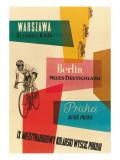 Fahrradrennen, Warschau, Berlin, Prag Poster