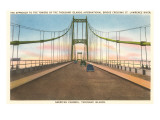 International Bridge, St. Lawrence River, New York Print