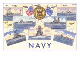 Ships of the US Navy Posters
