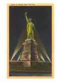 Night, Statue of Liberty, New York City Art