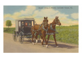Amish in Carriage, Pennsylvania Art