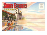 Postcard Folder, Santa Barbara, California Posters