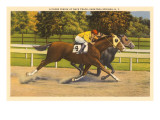Race Horses, Saratoga Springs, New York Prints