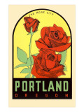 Rose City, Portland, Oregon Print