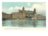 Ellis Island Immigration Depot, New York City Print
