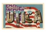 Greetings from Utica, New York Prints