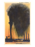 Spurting Oil Well, Oklahoma Poster