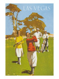 Golfing in Las Vegas, Nevada Poster