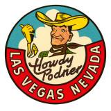 Howdy Podner Logo, Las Vegas, Nevada Posters