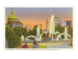 Fountain, City Hall, Philadelphia, Pennsylvania Posters