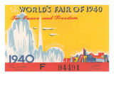 Souvenir Ticket to New York World's Fair, 1940 Poster