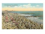 Strandbild, Coney Island, New York City Kunstdrucke