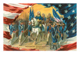 Washington Taking Command of the Army Prints