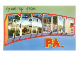 Greetings from Reading, Pennsylvania Poster