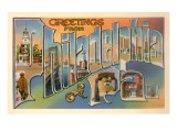 Greetings from Philadelphia, Pennsylvania Prints
