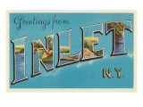 Greetings from Inlet, New York Prints