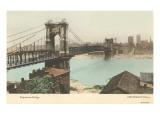 Bridge over Ohio, Cincinnati, Ohio Giclée-Premiumdruck