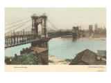 Bridge over Ohio, Cincinnati, Ohio Print