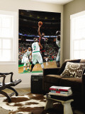 Miami Heat v Boston Celtics - Game Four, Boston, MA - MAY 9: Dwyane Wade and Jermaine O'Neal Wall Mural by Brian Babineau