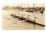 California Eight Oar Rowing Team Affiches
