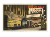 Night, Hotel Hollenden, Cleveland, Ohio Posters