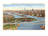 Triborough Bridge, View of Hell Gate, New York City Prints
