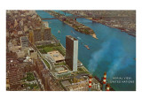 Aerial View, United Nations Building, New York City Poster