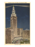 Night, Terminal Tower, Cleveland, Ohio Print