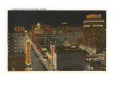 Night View of Portland, Oregon Prints