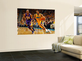 Los Angeles Lakers v New Orleans Hornets - Game Three, New Orleans, LA - APRIL 22: Trevor Ariza and Wall Mural by Chris Graythen