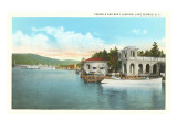 Boat Landing, Lake George, New York Poster