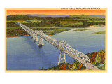 Rip Van Winkle Bridge, Hudson River, New York Poster