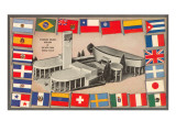 Standard Brands Building, World Flags, New York World's Fair Print