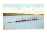Cornell Crew on Cayuga Lake, Ithaca, New York Reproduction giclée Premium