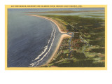 Aerial View of Seaside, Oregon Poster