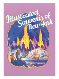 Illustrated Souvenir of New York City, Golden Hind Posters