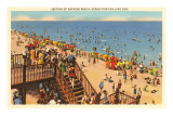 Beach, Cedar Point-on-the-Lake, Ohio Prints