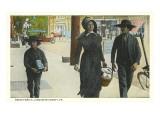 Amish Family, Lancaster County, Pennsylvania Prints