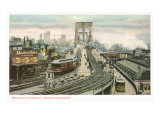 Brooklyn Bridge and Terminal, New York City Posters