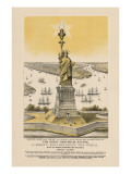 Liberty Enlightening the World, New York Harbor Print