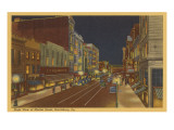 Night, Market Street, Harrisburg, Pennsylvania Prints