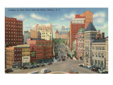State Street from Plaza, Albany, New York Kunstdrucke