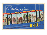 Greetings from Springfield, Ohio Print