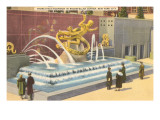 Prometheus Fountain, Rockefeller Center, New York City Posters