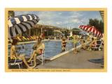 Pool, Hotel Last Frontier, Las Vegas, Nevada Prints