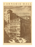 Carnegie Hall, New York City Prints