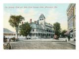Berkeley Hotel, Saranac Lake, Adirondack Mountains, New York Prints